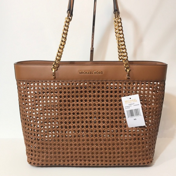 Michael Kors Kinsley Woven braided leather tote
